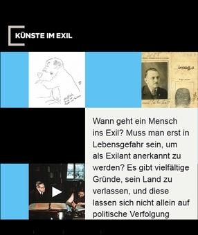 Internetseite Künste im Exil